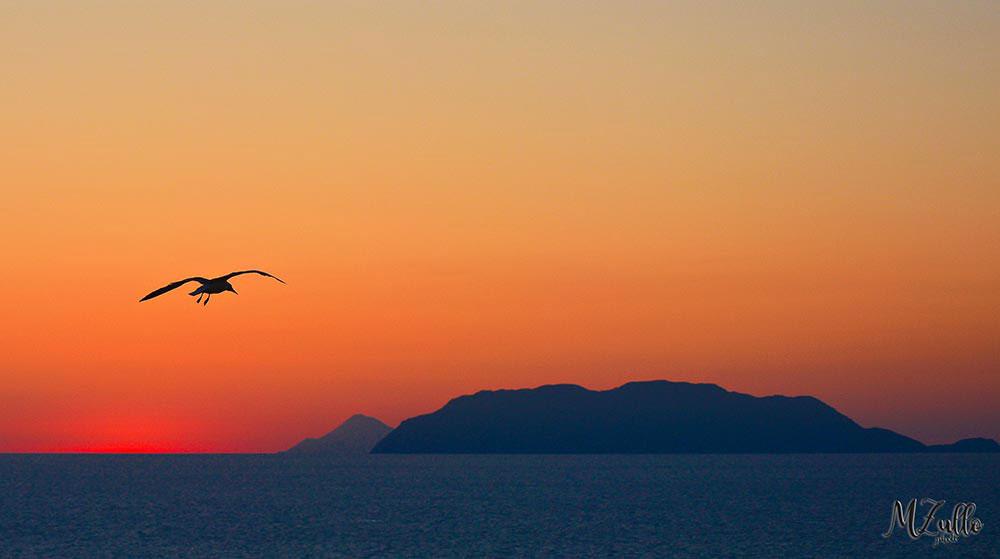 Rakelhome - Vista delle Isole Eolie al tramonto